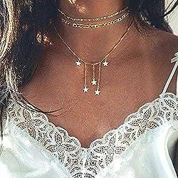 Jovono Fashion Multi Collar...