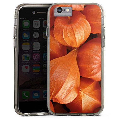Apple iPhone 7 Plus Bumper Hülle Bumper Case Glitzer Hülle Fruits Pflanze Plant Bumper Case transparent grau
