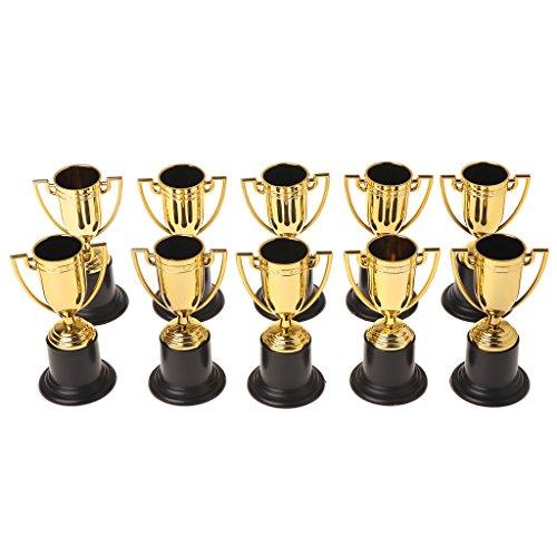 SimpleLife Trophy Cup, 10 Pezzi Golden Cups Trophy Sport Vincitore Puntelli educativi Premi ricompensa Bambini Giocattoli