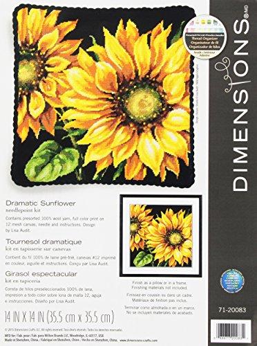 Dimensions Maße Dramatische Sonnenblume Tapisserie Kit, 71-20083 -