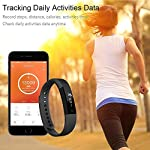 Fitness Tracker Watch AndThere Smart Watch Pedometer Wristband With Steps Tracker Calorie Counter Distance Count Sleep Monitor Call Reminder Camera Remote ControlActivity Tracker Smart Bracelet For IO