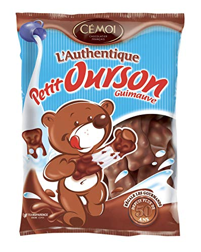 Cémoi Sachet l'Authentique Petit Ourson Guimauve au Chocolat au Lait 180 g - Lot de 5