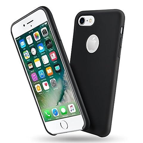 Étui Pour iPhone 8, ToHayie Ultra Thin Case Housse de protection en silicone pleine protection pour iPhone 7/8 Noir