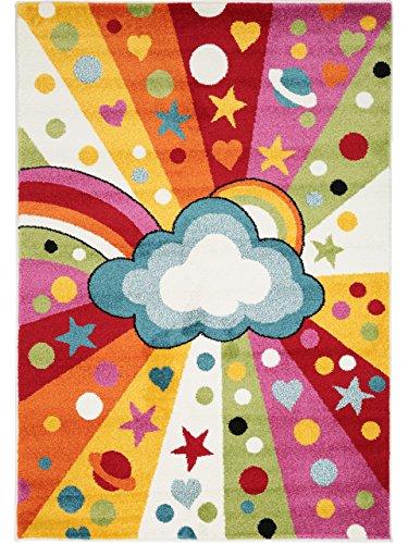 Benuta Kinderteppich Noa Universe Multicolor 80x150 cm | Teppich für Spiel- und Kinderzimmer (Rechteckige Teppiche Mehrfarbige)