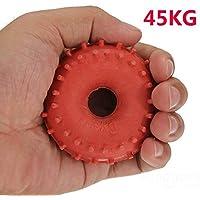 mark8shop nuevo 45kg Grip de goma Mano Pinza Fuerza de dispositivo Rojo