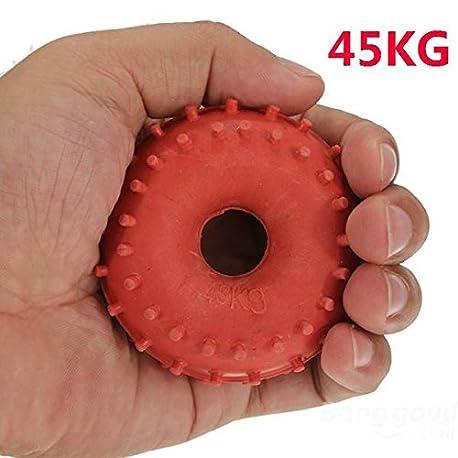 mark8shop nuevo 45 kg Grip de goma Mano Pinza Fuerza de dispositivo Rojo