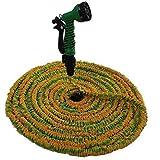 Flexible Garden Hose ,TechCode®100FT Expandable Flexible Garden Hose Pipe with Spray Gun for Plants Watering and Car Washing (Not include