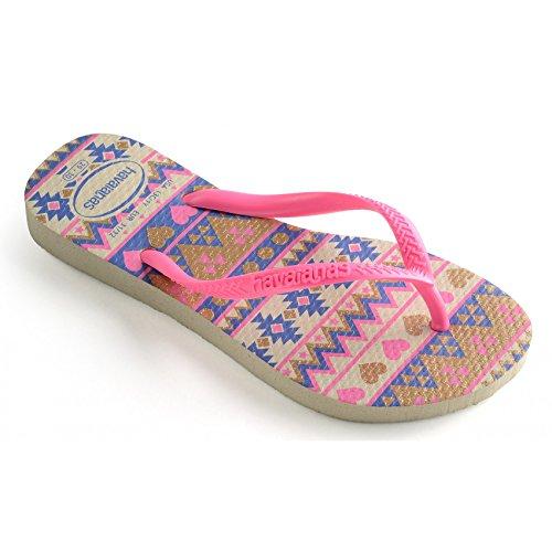 Bild von Havaianas Slim Fashion Flips Kids Beige/Pink Schuhgröße EU 29/30   Brazilian 27/28 2018 Sandalen