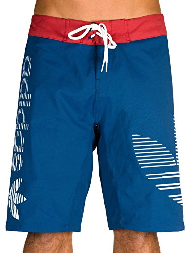adidas Herren Boardshorts Badeanzug, Blau/Azumis/Rojmis/Blanco, 32 Zoll