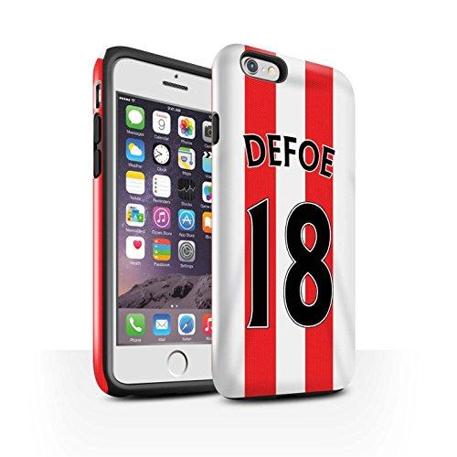 Offiziell Sunderland AFC Hülle / Glanz Harten Stoßfest Case für Apple iPhone 6S / Pack 24pcs Muster / SAFC Trikot Home 15/16 Kollektion Defoe