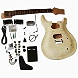 GD820 Mahogany body with Quilted Maple veneer Top Electric Guitar DIY Kit SET-IN