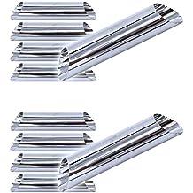 Set di 10 stampi per cannoli (129mm x 25mm), stampo tradizionale da forno, beccuccio per sac à poche, erogatore per panna