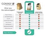 Coninx Quin Magnetischer Messerblock | Ohne Messer | Messerhalter aus Bambus für eine organisierte und aufgeräumte Küche | Maβe: 22cm H x 23cm B x 12cm T | 5 Jahre Herstellergarantie - 4