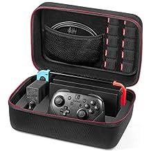 Funda para Nintendo Switch – Younik Estuche dura de transporte de lujo, para la consola Switch, La base de la Switch, adaptador de corriente alterna, cable HDMI, control Pro y 10 cartuchos de juegos