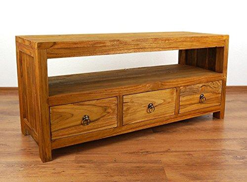 Asia Wohnstudio Java Sideboard aus Teakholz | TV-Bank aus Massivholz | Phonoschrank/HiFi-Möbel der Marke (Handarbeit)
