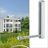 Klapphaken-Garderobe TESSIN - H 160 mm weiss - für Balkon, Terasse, Garderobe - platzsparend, stabil, Klapp-Haken aus wetterfestem Chrom und hochwertigem Kunststoff. Garderoben-Haken.