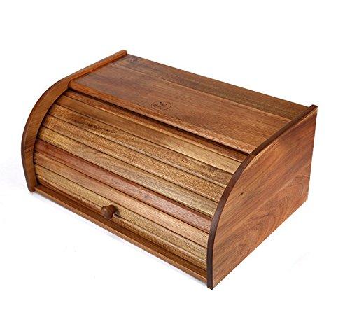Aufbewahrungsbox Massivholz Küche Brotkasten Multifunktions-Lebensmittel Snacks Sortierbox Staubdichte Küche Geschenke