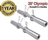 Max Strength MAXSTRENGTH 5,1cm olimpico manubrio bar set & molla di sollevamento pesi, allenamento