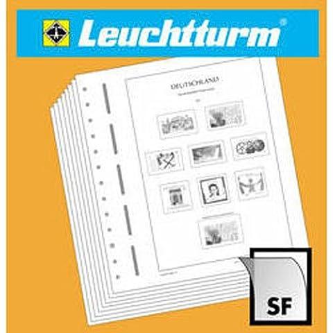 Leuchtturm 300045 LEUCHTTURM SF-hojas preimpresas ONU Nueva York banderas 1980-1989