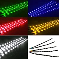 Flexible impermeable Tiras de Luz para Auto de camiones de moto Parrilla, 30cm 12V 15SMD LED (Rojo)