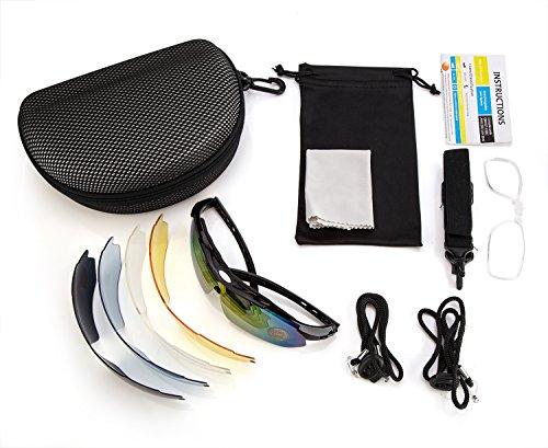Fahrradbrille,Lypumso Sonnenbrille Polarisiert für Herren und Damen,Radbrille mit 5 Wechselgläsern UV400 Sportbrille für das Fahren Radsports Laufen Skifahren Angeln - 2