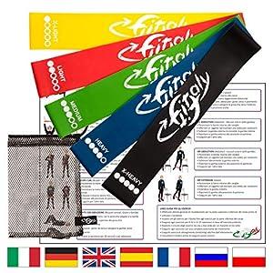 FitFitaly Fitnessbänder Set – Widerstandsbänder für Gymnastik mit Übungsanleitung in PDF auf Deutsch