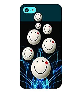 PrintVisa Romantic Love Smiley 3D Hard Polycarbonate Designer Back Case Cover for Apple iPod Touch 6