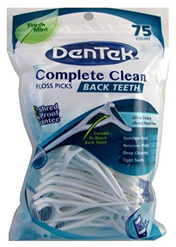 Dentek Floss Picks Complete Clean Fresh Mint 75's