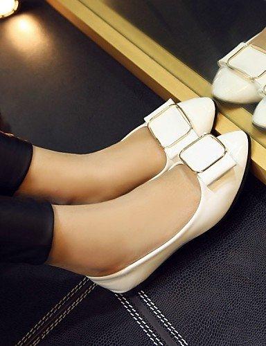 ZQ Damenschuhe - Ballerinas - B¨¹ro / Kleid / L?ssig - Lackleder - Niedriger Absatz - Komfort / Ballerina - Schwarz / Rosa / Wei? black-us6.5-7 / eu37 / uk4.5-5 / cn37