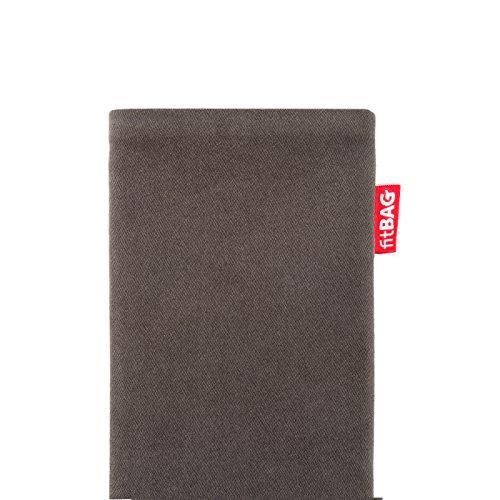 fitBAG Rock Weiß Handytasche Tasche aus Textil-Stoff mit Microfaserinnenfutter für Apple iPhone 2G Rock Taupe