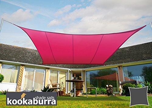 Voile d'Ombrage Rose Carré 5,4m - Imperméable - 160g/m2 - Kookaburra