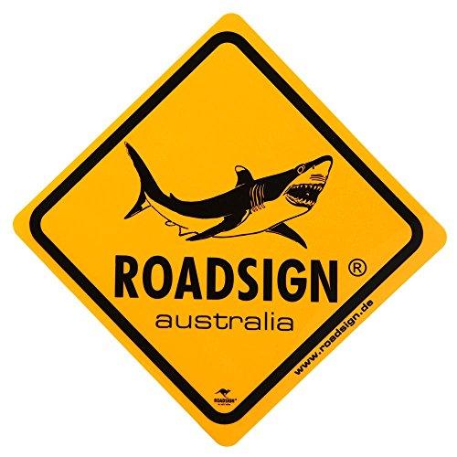 Roadsign Mittleres Schild Haifisch gelb 25 x 25 cm Gelb