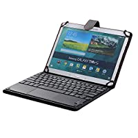 Universal 10'' Tablet Keyboard Leather Case, Samsung Galaxy Tab S5e Keyboard Case, Synthetic Leather Cover with Bluetooth Keyboard (TOUCHPAD MOUSE) for Samsung Galaxy Tab S5e [SM-T720 / SM-T725 ]
