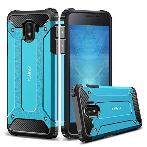 J und D Kompatibel für Galaxy J2 Core Hülle, [ArmorBox] [Doppelschicht] [Heavy-Duty-Schutz] Hybrid Stoßfest Schutzhülle für Samsung Galaxy J2 Core - Blau