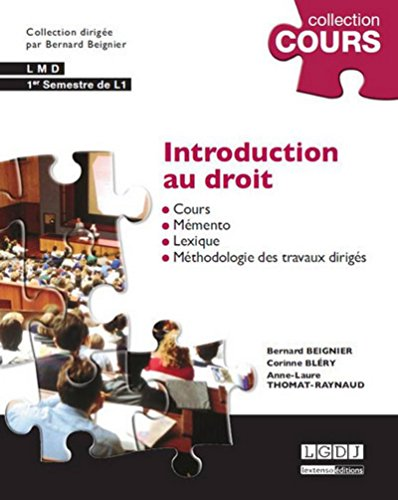 Introduction au droit, 4ème Ed.