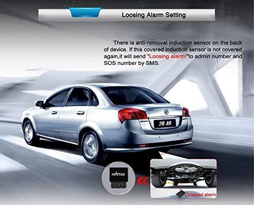 GPS Tracker, TKSTAR OBDII Auto LKW GPS-Tracker, Mini GSM GPRS GPS Ortung Outdoor-Navigation GPS-Gerät mit kostenlosen APP Echtzeit-Positionierung