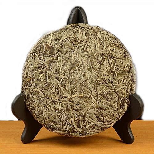 300g (0.66LB) Alte Fuding weißer Tee Kuchen natürliche organische chinesische weiße Tee Silber Nadel Grüner Tee Chinesischer Tee Roher Tee gesundes Lebensmittel Alte Bäume weißer Tee