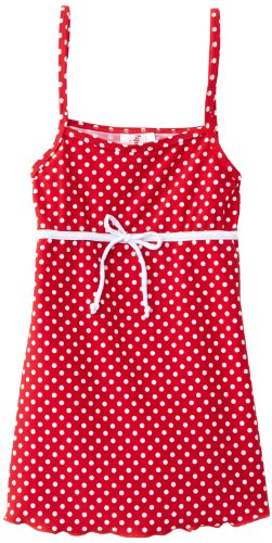 Playshoes Girl's UV Sun Protection Polka Dot Swimming Dress Swimsuit