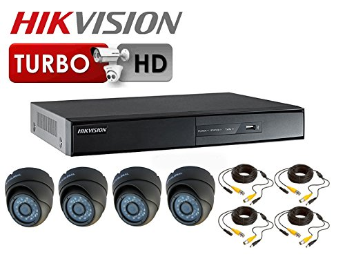 1080P HD TVI CCTV-Set HIKVISION Turbo DVR 3,6 mm Kuppel 20 m IR-Kameras