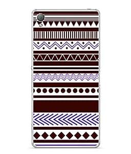 PrintVisa Designer Back Case Cover for Sony Xperia M4 Aqua :: Sony Xperia M4 Aqua Dual (Brown And Purple Dotted Design)