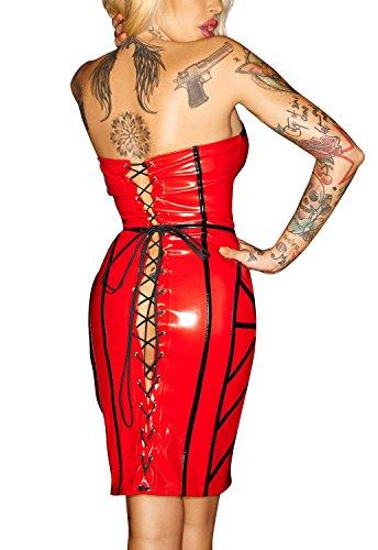 Noir Handmade - Robe - Femme Rouge - Rouge/noir
