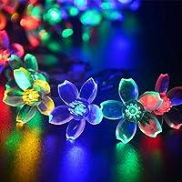Agooding solare fiore fata luci della stringa 50 LED 23
