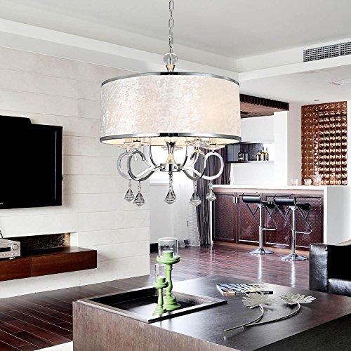 lampadario di cristallo stoffa 6-testa Semplice ed elegante, lampadario di