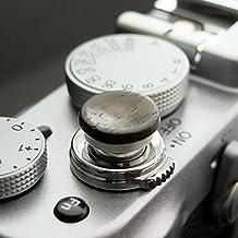 Auslöseknopf aus Aluminium/Holz - Ebenholz (konkav, 11mm) für Leica M-Serie, Fuji X100, X100S, X100T, X100F, X10, X20, X30, X-T2, X-T10, X-T20, X-Pro1, X-Pro2, X-E1, X-E2, X-E2S und die meisten Kameras mit Drahtauslöser-Gewinde, innerhalb von 24 Stunden versandbereit