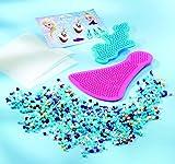 Totum Frozen Bastel-Set, Bügelperlen-Bilder mit Zwei Verschiedenen Eiskönigin-Motiven (ELSA, Olaf), Stickern und Steckplatten, Geschenk für Mädchen hergestellt von Totum