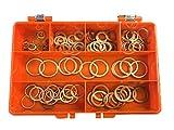 Premium Métricas cobre arandelas Kit hecho de alto grado de cobre que contiene 7tamaños, para ingenieros, electricistas, mecánica y bricolaje uso