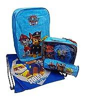 PAW PATROL SCHOOL SET For BOYS Including Backpack, Pencil Case, PE Gym Shoe Bag & Lunch Bag