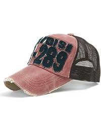 "ililily Baseballkappe: gehalten im ""Used Look"" (abgenutztes Aussehen), klassischer Stil, Netzkappe (Mesh Cap), Baseball Cap, Snapback/Trucker Cap"