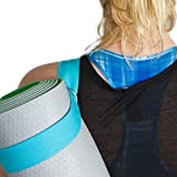 The Friendly Swede 2er-Set Yogagurt bzw. Yogamatten-Gurt mit D-Form-Metallöse und Karabiner -