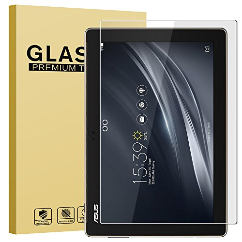 RIFFUE ASUS ZenPad 10 Z301M / Z301ML / Z301MF / Z301MFL / Z300M Schutzfolie Panzerglas, Kristallklares 9H Gehärtetes Glas 3D Touch Kompatibler Screen Protector Tempered Glass Folie Film [1 Stück]